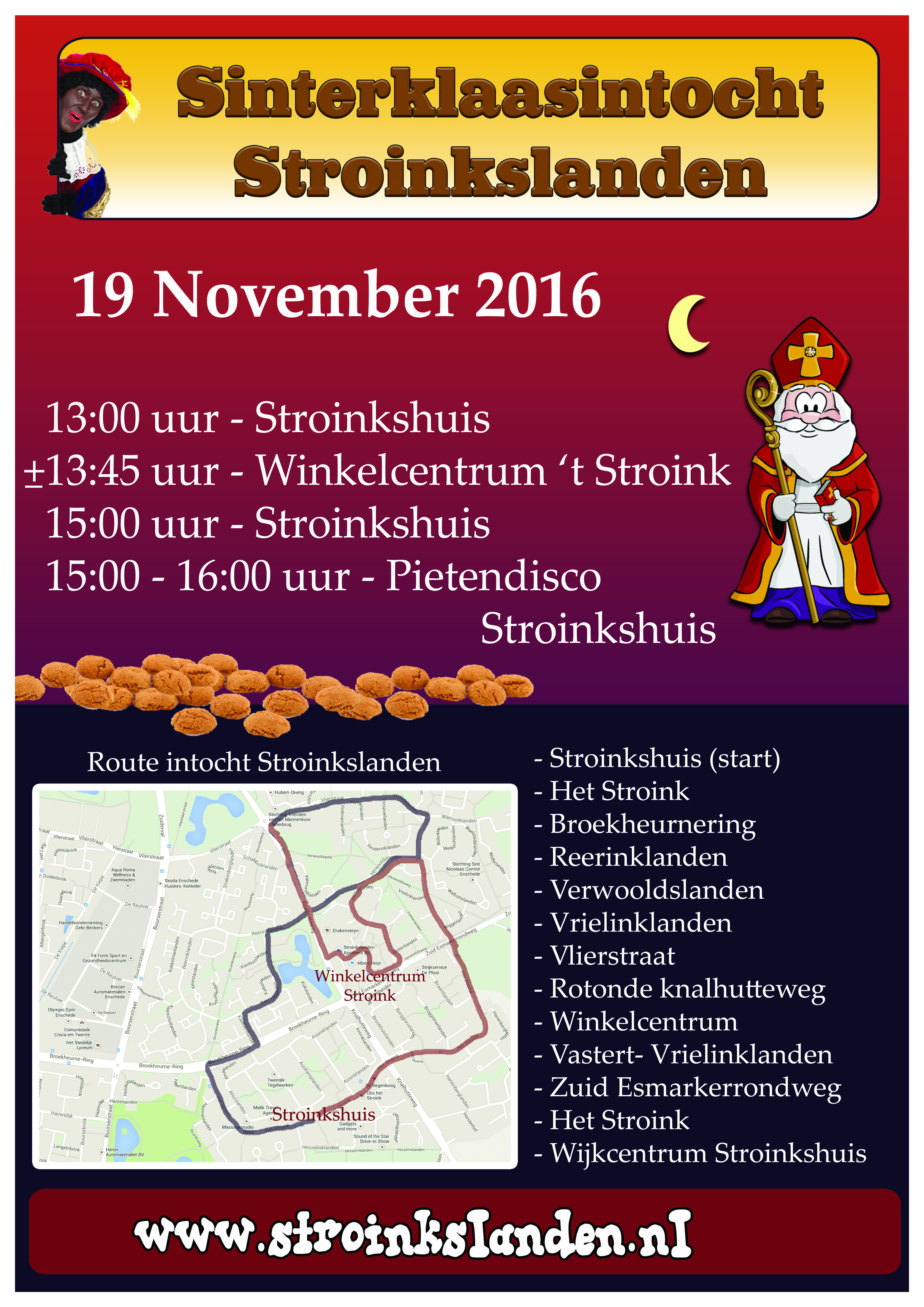 Intocht Enschede Stroinkslanden Zaterdag 23 November 2019 Sinterklaasintocht Info